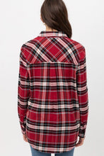 Load image into Gallery viewer, COZY BY THE CAMPFIRE FLANNEL TOP-RED - Infinity Raine