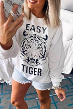 Load image into Gallery viewer, EASY TIGER WHITE PRINTED SWEATSHIRT - Infinity Raine