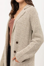 Load image into Gallery viewer, PLUS SIZE IN OUR COMFORT ZONE TWO TONED LONG CARDIGAN-OATMEAL - Infinity Raine