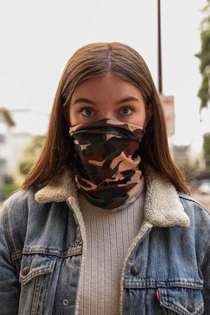 THE ENDLESS POSSIBILITIES FACE COVERING MASK-CAMO - Infinity Raine
