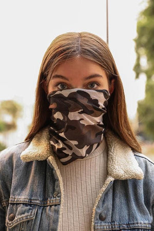 THE ENDLESS POSSIBILITIES FACE COVERING MASK-GRAY CAMO - Infinity Raine
