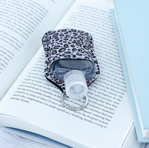 I BROUGHT BACK UP HAND SANITIZER KEY CHAIN HOLDER-LEOPARD - Infinity Raine