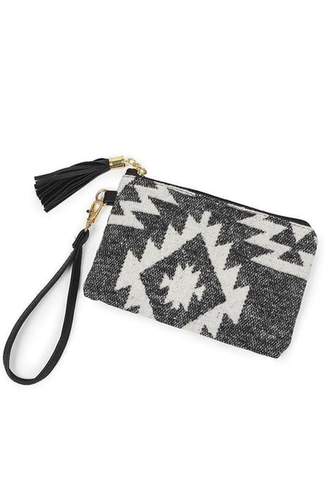 LIVING THE WESTERN LIFE POUCH BAG-BLACK - Infinity Raine