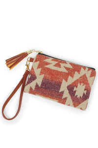 LIVING THE WESTERN LIFE POUCH BAG- SUNSET RED - Infinity Raine