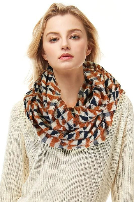 SAY WHAT YOU WANT INFINITY SCARF-CAMEL - Infinity Raine