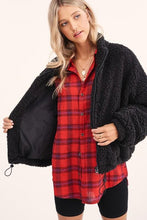 Load image into Gallery viewer, BONFIRE KINDA NIGHT FLANNEL TOP-RED - Infinity Raine