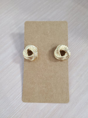 SUCH A SWEET GIRL KNOT STUD EARRINGS-GOLD - Infinity Raine