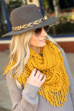 Load image into Gallery viewer, AUTUMN AIR INFINITY SCARF-BRICK/NAVY/OLIVE/MUSTARD/BURGUNDY - Infinity Raine