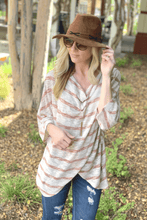 Load image into Gallery viewer, EASY COME EASY GO Tunic-MOCHA/RUST - Infinity Raine