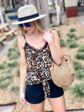 Load image into Gallery viewer, FUN AND FLIRTY ANIMAL PRINT LACE CAMI - Infinity Raine