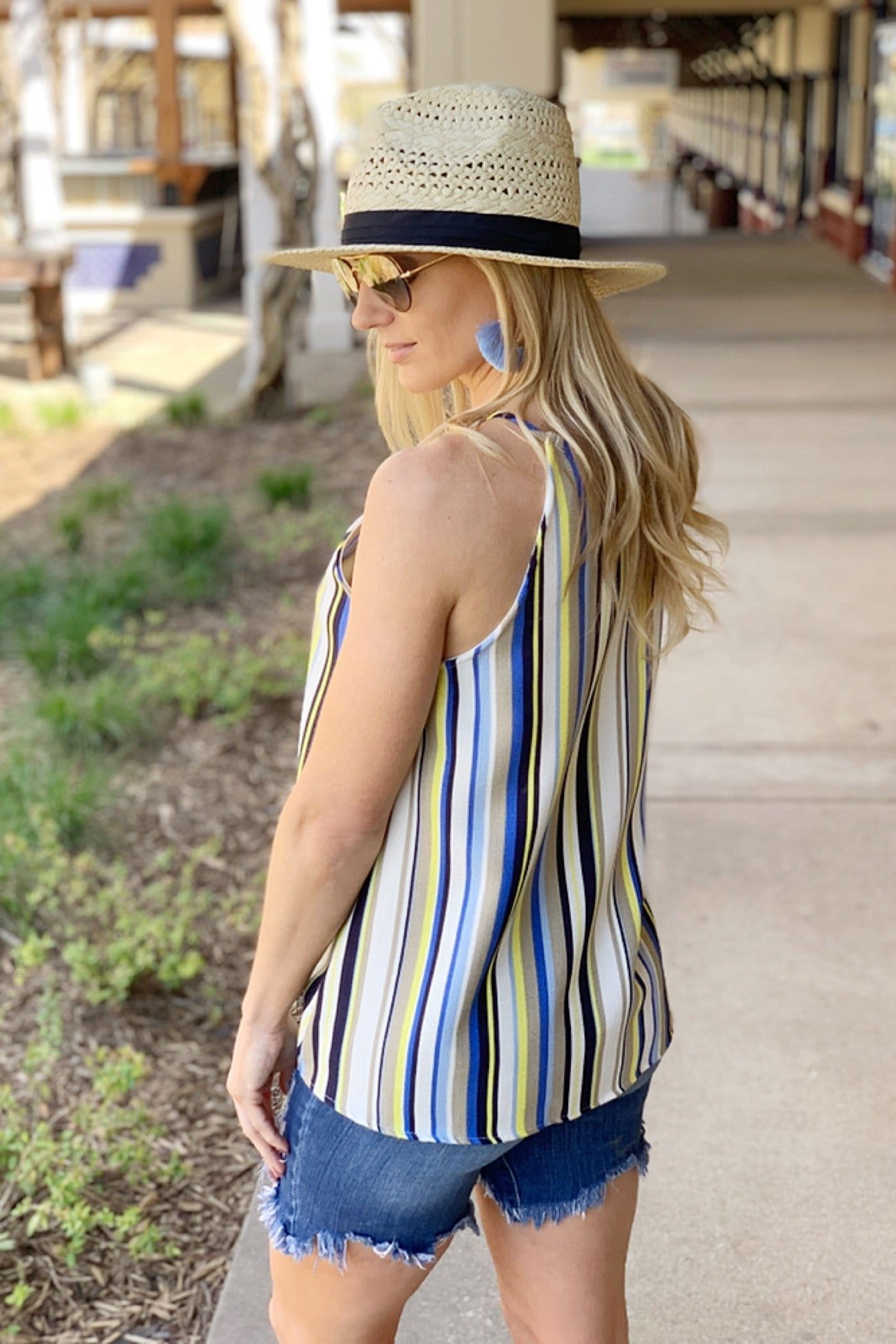 CHASING SUMMER STRIPED HALTER TOP - Infinity Raine