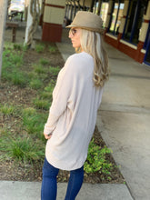 Load image into Gallery viewer, SOMEBODY TO LOVE WAFFLE KNIT CARDIGAN-TAUPE - Infinity Raine