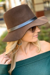 FLOPPY BRIM FEDORA HAT-BROWN - Infinity Raine