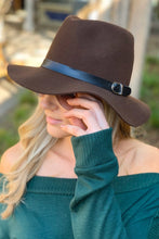 Load image into Gallery viewer, FLOPPY BRIM FEDORA HAT-BROWN - Infinity Raine