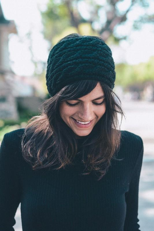 GET SNOWED IN KNIT HEADBAND-BLACK/CHARTREUSE - Infinity Raine