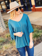 Load image into Gallery viewer, BOHO FEELS V-NECK FLUTTER SLEEVE KNIT TOP-JADE - Infinity Raine