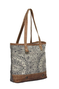 OBJET D'ART LEATHER STRIP TOTE BAG - Infinity Raine