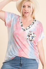Load image into Gallery viewer, DON'T OVER THINK IT TIE DYE FRENCH TERRY PLUS SIZE TOP-PINK/BLUE - Infinity Raine