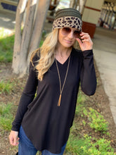 Load image into Gallery viewer, EASY LIKE SUNDAY MORNING TUNIC-BLACK - Infinity Raine