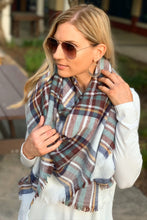 Load image into Gallery viewer, AUTUMN AIR BLANKET SCARF-WHITE MULTI - Infinity Raine