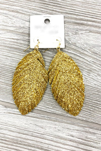 SASS AND CLASS LEATHER EARRINGS-YELLOW GOLD - Infinity Raine