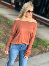 Load image into Gallery viewer, DINNER AND A MOVIE SWEATER TOP-CHESTNUT - Infinity Raine