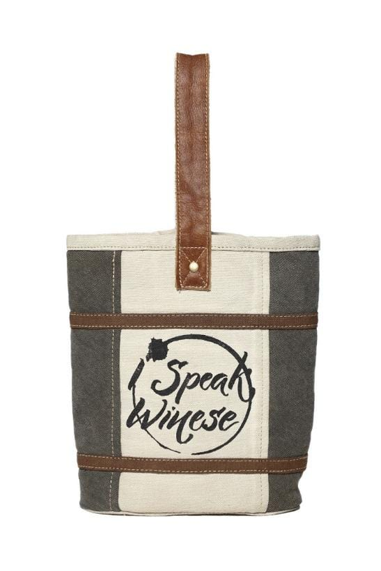 I SPEAK WINESE DOUBLE WINE BAG - Infinity Raine
