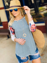 Load image into Gallery viewer, FOR THE LOVE OF SPRING KNIT TUNIC TOP-DEEP SEA - Infinity Raine