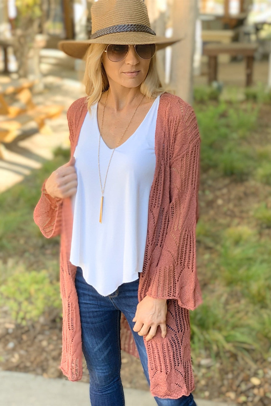 THIS IS NO DREAM CROCHET CARDIGAN-CINNAMON - Infinity Raine
