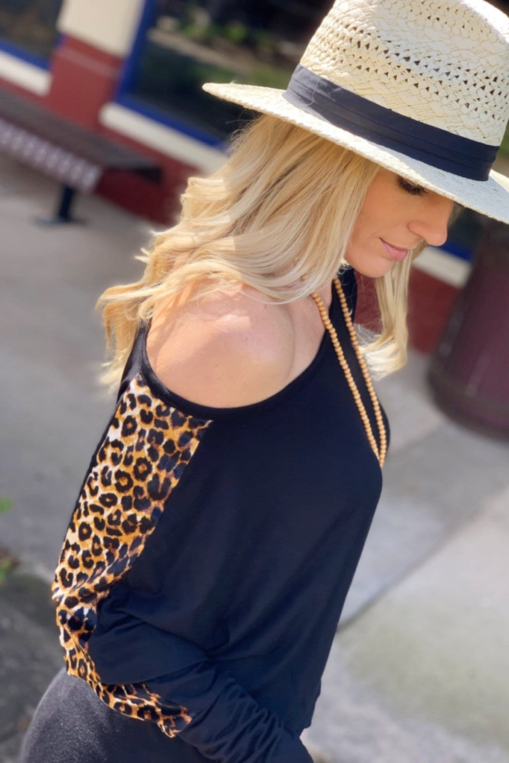 BABY IT'S A WILD WORLD LEOPARD PRINT TOP-BLACK - Infinity Raine