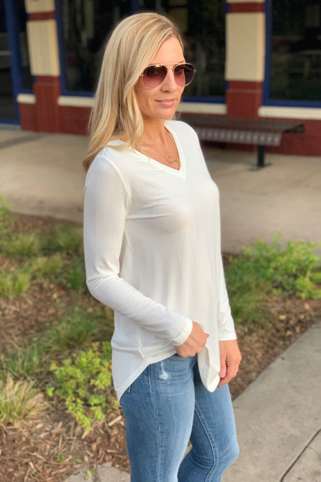 EASY LIKE SUNDAY MORNING TUNIC-IVORY - Infinity Raine