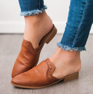TAKE CHARGE MULES-COGNAC BROWN - Infinity Raine