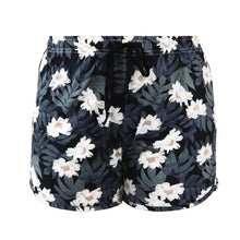 Load image into Gallery viewer, HELLO MELLO SWEET ESCAPE PJ LOUNGE SHORTS-BLACK/WHITE FLORAL - Infinity Raine