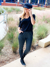 Load image into Gallery viewer, LIVING FOR COMFORT JOGGERS-CHARCOAL GREY - Infinity Raine