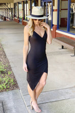 Load image into Gallery viewer, SHAKEN AND STIRRED RUCHED DRESS-BLACK - Infinity Raine