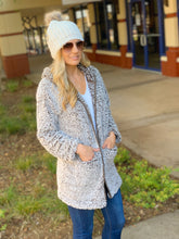Load image into Gallery viewer, SAY IT AIN'T SNOW SHERPA HOODED JACKET-MOCHA - Infinity Raine