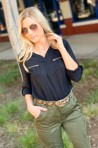 KEEPING IT CHIC TOP-BLACK - Infinity Raine
