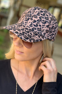 CHILL AND THRILL BASEBALL CAP-LEOPARD PRINT - Infinity Raine