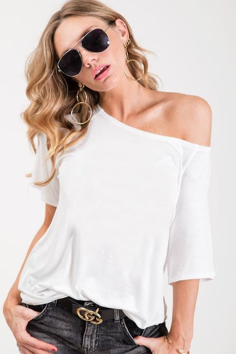 SIMPLY THE BEST RAGLAN TOP-OFF WHITE - Infinity Raine