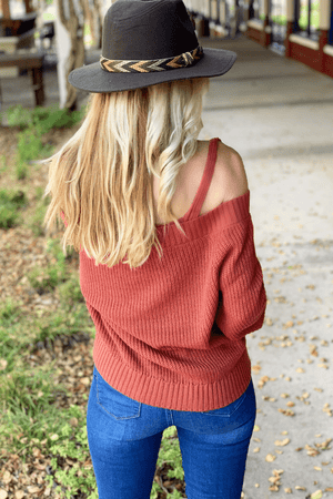 EVERY LITTLE DETAIL SWEATER-BRICK - Infinity Raine