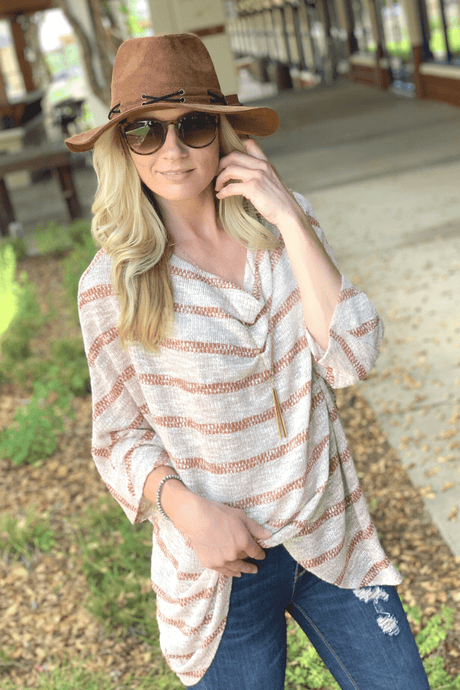 EASY COME EASY GO Tunic-MOCHA/RUST - Infinity Raine
