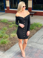 Load image into Gallery viewer, PRETTY LITTLE THING RIBBED DRESS-BLACK - Infinity Raine