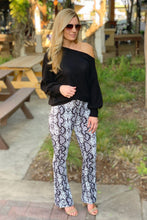 Load image into Gallery viewer, OH-EM-GEE! SNAKE PRINT FLARE PANTS - Infinity Raine