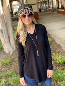 EASY LIKE SUNDAY MORNING TUNIC-BLACK - Infinity Raine