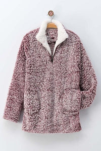 FROSTED FUN PULLOVER-WINE - Infinity Raine