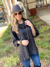 Load image into Gallery viewer, DOLMAN SLEEVE COWL NECK OVERSIZE TUNIC - Infinity Raine