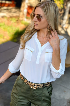 KEEPING IT CHIC TOP-IVORY - Infinity Raine