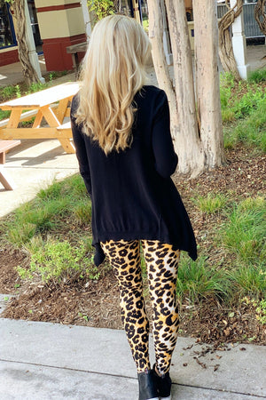WILD RUN ANIMAL PRINT LEGGINGS-ORANGE/BLACK - Infinity Raine