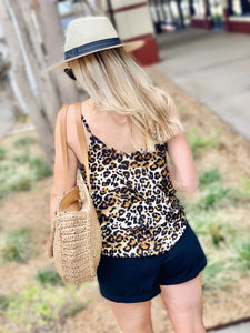FUN AND FLIRTY ANIMAL PRINT LACE CAMI - Infinity Raine