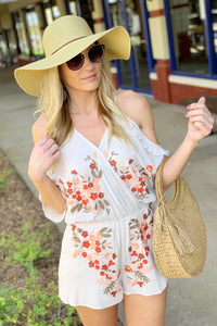 BRIGHTEN THE DAY EMBROIDER PRINT ROMPER - Infinity Raine
